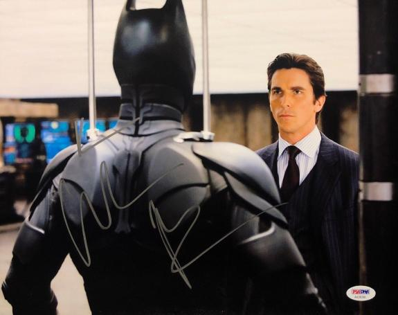 Christian Bale Signed Batman The Dark Knight 11x14 Photo PSA AA28288