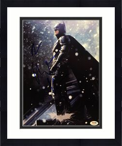 Christian Bale Signed Batman The Dark Knight 11x14 Photo PSA AA84805