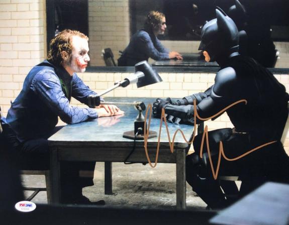 Christian Bale Signed Batman 'The Dark Knight' 11x14 Photo PSA AF60436