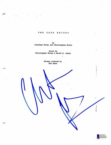 Christian Bale Signed Batman The Dark Knight Auto Full Script Screenplay Beckett