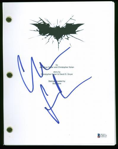 Christian Bale Signed Batman The Dark Knight Movie Script BAS #C44175