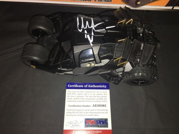 Christian Bale Signed Batmobile Car 1:24 The Dark Knight Trilogy Star PSA/DNA #2
