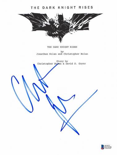 Christian Bale Signed Dark Knight Rises Full Script Screenplay Authentic Bas 5