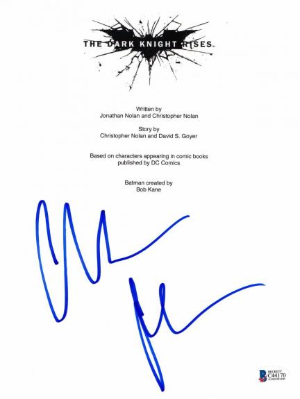 Christian Bale Signed Dark Knight Rises Full Script Screenplay Authentic Bas 8
