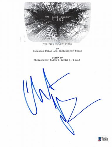 Christian Bale Signed Dark Knight Rises Full Script Screenplay Authentic Beckett