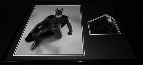 Christian Bale Signed Framed 16x20 Dark Knight Batman Photo Display