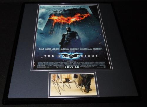 Christian Bale Signed Framed 16x20 Dark Knight Batman Poster Display