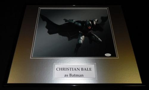 Christian Bale Signed Framed 16x20 Photo Poster Display JSA Batman Dark Knight