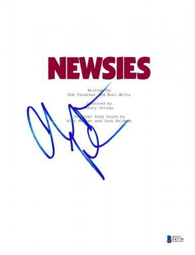 Christian Bale Signed Newsies Full Movie Script Beckett Bas Autograph Auto