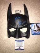 Christian Bale Signed Official Batman Mask The Dark Knight Beckett #8