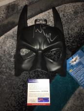 Christian Bale Signed Official Batman Mask The Dark Knight PSA/DNA #3