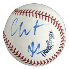 Christian Bale Signed OML Baseball Autographed BAS #C58386