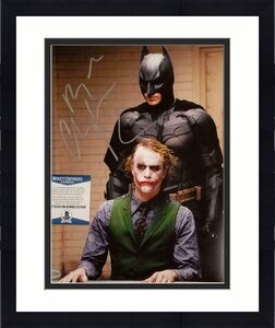 CHRISTIAN BALE Signed The Dark Knight 11x14 Photo Autograph B~ Beckett BAS COA