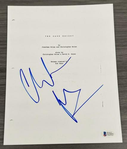 Christian Bale Signed The Dark Knight Full Script Authentic Autograph Beckett