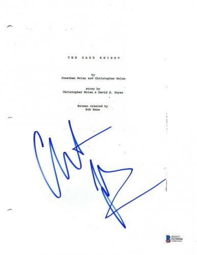 Christian Bale Signed The Dark Knight Full Script Autograph Beckett Coa