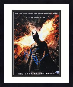 Christian Bale Signed 'The Dark Knight Rises' 11x14 Photo *Batman BAS C16273