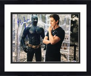 Christian Bale Signed 'The Dark Knight Rises' 11x14 Photo *Batman PSA AA60800