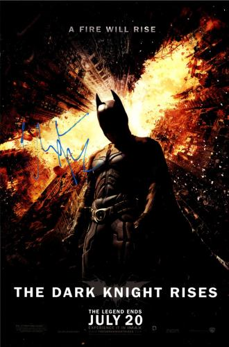 Christian Bale Signed The Dark Knight Rises 12x18 Poster AFTAL UACC RD COA