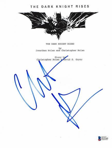 Christian Bale Signed The Dark Knight Rises 'batman' Movie Script Beckett Bas 3