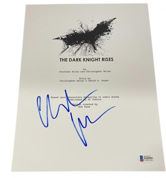 Christian Bale Signed The Dark Knight Rises Full Script Autograph Beckett Coa