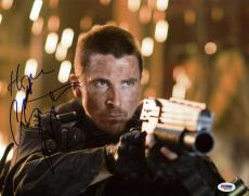 Christian Bale Terminator Salvation Signed 11X14 Photo PSA/DNA #M42655