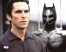 Christian Bale The Dark Knight Signed 11X14 Photo PSA/DNA #Z90190