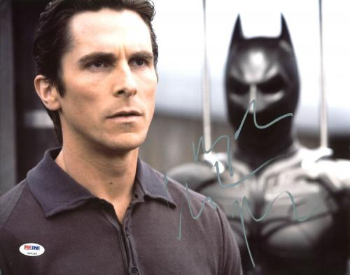 Christian Bale The Dark Knight Signed 11X14 Photo PSA/DNA #Z90190