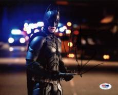 Christian Bale The Dark Knight Signed 8X10 Photo PSA/DNA #U36823