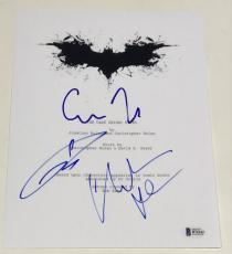 Christian Bale Tom Hardy Chris Nolan Signed The Dark Knight Rises Full Script