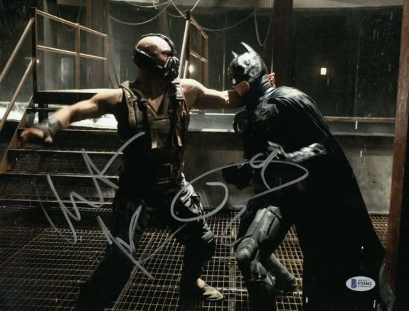 Christian Bale Tom Hardy Dual Signed The Dark Knight Rises 11x14 Photo Beckett