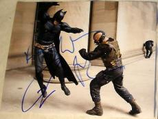 "Christian Bale Tom Hardy Signed Autograph ""dark Knight Rises"" Bane Batman Photo"