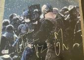 "Christian Bale & Tom Hardy Signed Autograph ""dark Knight Rises"" Photo Jsa Y51488"