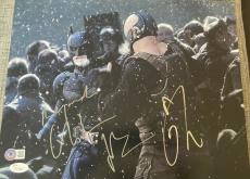 "Christian Bale & Tom Hardy Signed Autograph ""dark Knight Rises"" Photo Jsa Y51488"