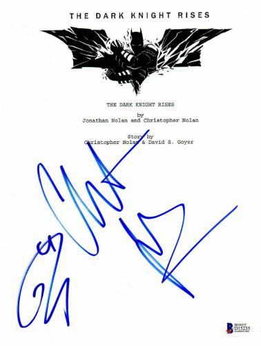 Christian Bale Tom Hardy Signed 'the Dark Knight Rises' Full Script Beckett Bas