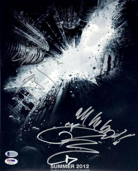 "Christian Bale Tom Hardy Tom Holland Signed 11x14 ""The Dark Knight Rises"" Batman"