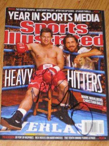 Christian Bale Wahlberg Signed Sports Illustrated Coa