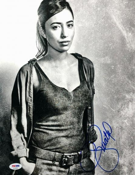 Christian Serratos Signed 11x14 Photo *Model *Actress *Walking Dead PSA AE84909