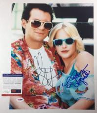 CHRISTIAN SLATER & PATRICIA ARQUETTE SIGNED 11x14 PHOTO TRUE ROMANCE PSA/DNA COA