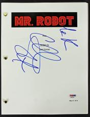 Christian Slater Signed Mr. Robot Movie Script PSA/DNA #AA82762