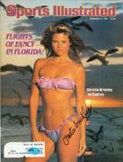 Christie Brinkley autographed Sports Illustrated Magazine (February 9 1981)