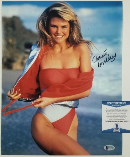 CHRISTIE BRINKLEY Signed 11x14 Photo Model Autograph ~ Beckett BAS COA
