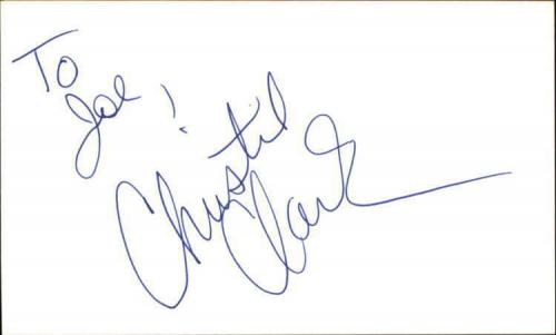 """CHRISTIE CLARK DAYS OF OUR LIVES Signed 3""""x5"""" Index Card"""