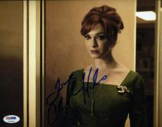 Christina Hendricks Mad Men Signed Psa/dna 8x10 Photo Authenticated Autograph