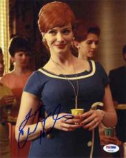 Christina Hendricks Sexy Mad Men Autographed Signed 8x10 Photo Certified PSA/DNA