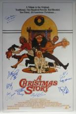Christmas Story Cast Signed Autographed 27x40 Poster 9 Signatures PSA/DNA V00726