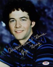Christopher Daniel Barnes Signed Greg Brady 8x10 Photo PSA/DNA Auto Brady Bunch