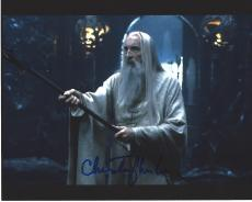 """CHRISTOPHER LEE as SARUMAN in """"THE LORD of the RINGS"""" Signed 10x8 Color Photo"""