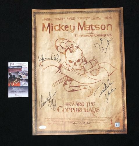 Christopher Lloyd + 4 Cast Members Signed Mickey Matson 13x18 Poster JSA COA