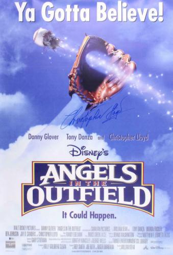 Christopher Lloyd Angels In The Outfield Signed Full Size Movie Poster Beckett