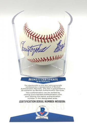 Christopher Lloyd Angels In The Outfield Signed Romlb Baseball Beckett Bas 11